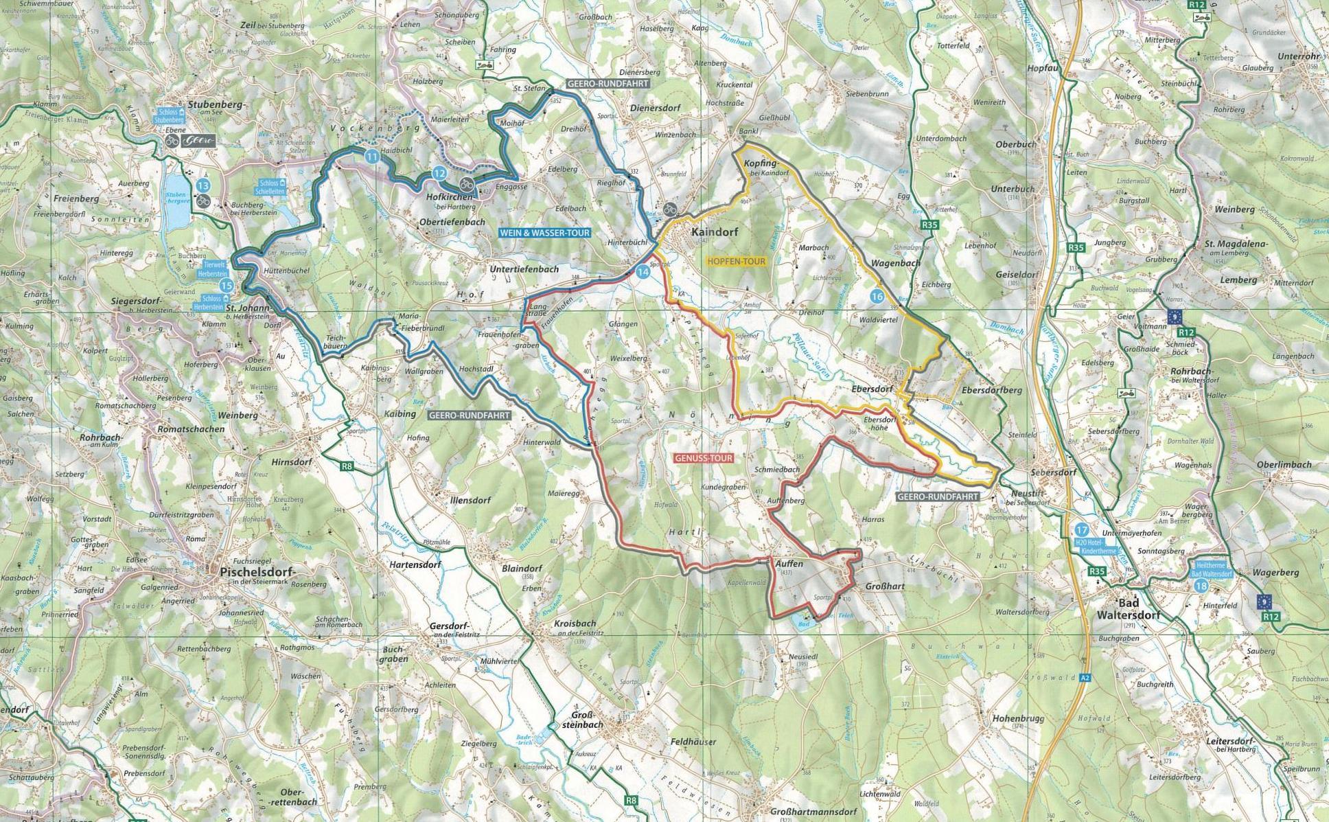 Radwegkarte Ökoregion Kaindorf